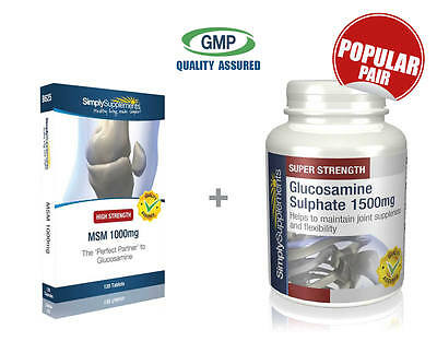 MSM 1000mg 120 Tablets & Glucosamine Sulphate 1500mg 120 Tablets | Joint Health