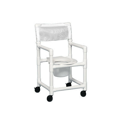 "Standard Shower Chair Commode 17"" Clearance White"