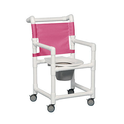 "Select Shower Chair Commode 17"" Clearance Wineberry"