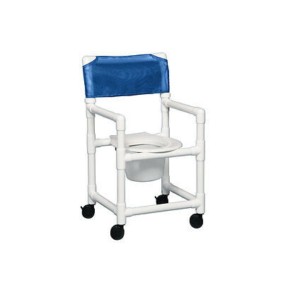 "Standard Shower Chair Commode 17"" Clearance Blue"