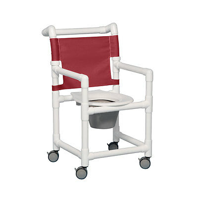 "Select Shower Chair Commode 17"" Clearance Maroon"