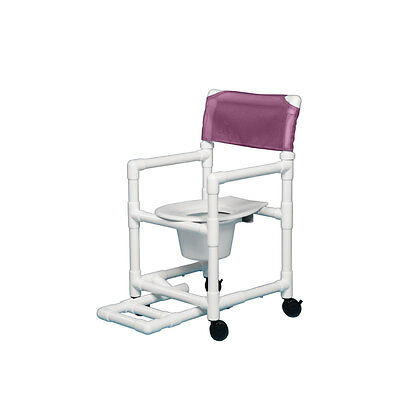 """Shower Chair Commode with Footrest 17"""" Clearance-Wineberry"""