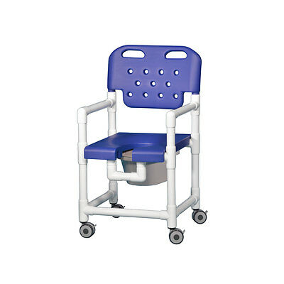 "Elite Shower Chair  Commode 20"" Clearance Blue"
