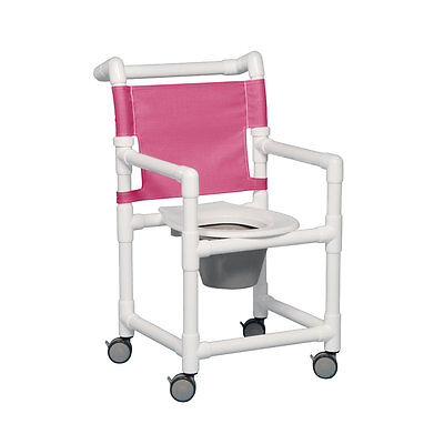 """Select Shower Chair Commode 20"""" Clearance Wineberry"""