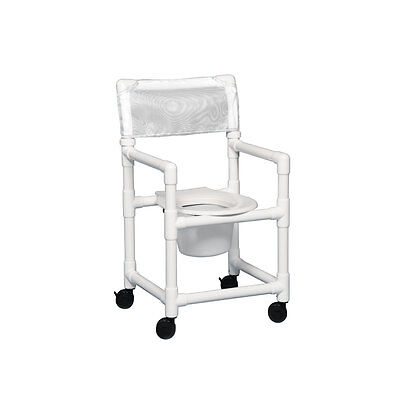 "Standard Shower Chair Commode 20"" Clearance White"