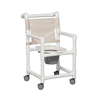 "Select Shower Chair Commode 17"" Clearance Linen"