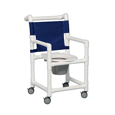 """Select Shower Chair Commode 20"""" Clearance Navy"""