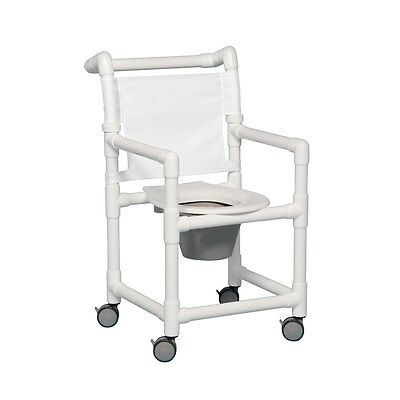 """Select Shower Chair Commode 20"""" Clearance White"""