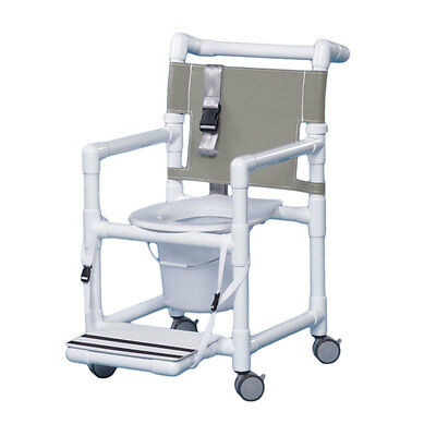 """Select Shower Commode Seat Belt & Footrest 17"""" Clearance  Silverado"""
