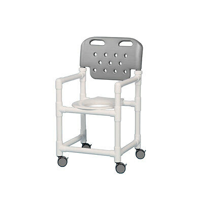 "Shower Chair with Molded Backrest 17"" Gray"