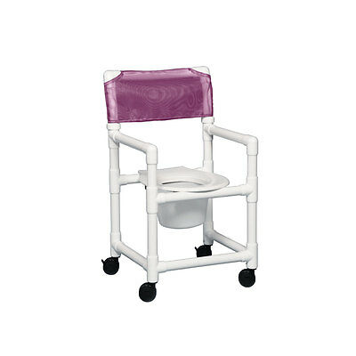 "Standard Shower Chair Commode 17"" Clearance Wineberry"