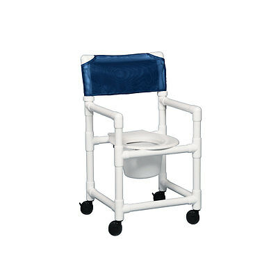 "Standard Shower Chair Commode 20"" Clearance Dark Blue"