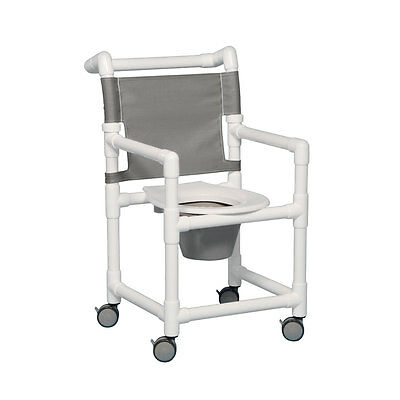 """Select Shower Chair Commode 20"""" Clearance Silverado"""