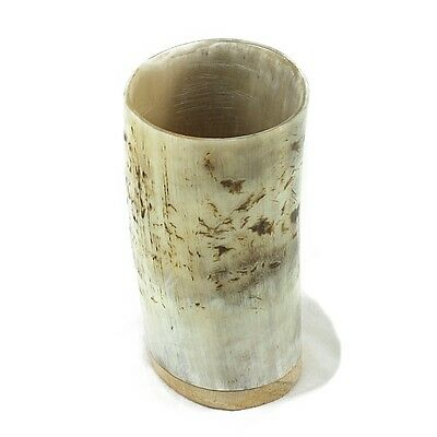Horn Beaker - Rough - Wooden Base
