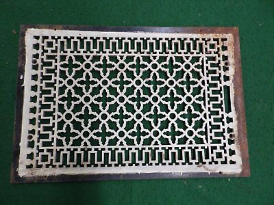 Large Antique Gothic Cast Iron Cold Air Return Vent Vintage Old Hardware 4593-15