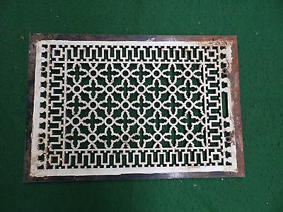Large Antique Gothic Cast Iron Cold Air Return Vent Vintage Old Hardware 4594-15