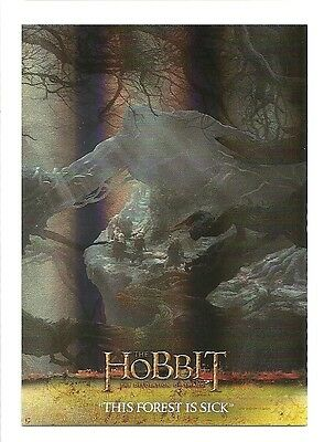 2015 The Hobbit Desolation of Smaug Silver Foil Card # 7