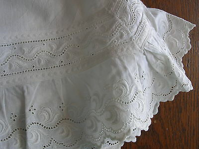 Antique German EYELET LACE TRIM BLOOMERS PANTALOONS Lagenlook Layer Costume!