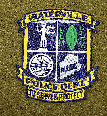 32800) Patch Waterville Maine Police Sheriff Department Insignia Badge Law Fire
