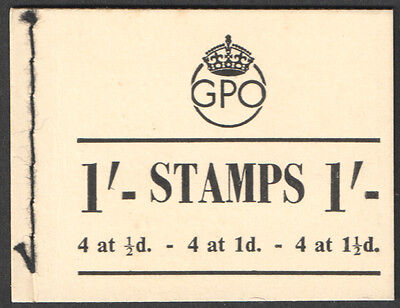 BD8 George VI May 1952 1/- Complete Stitched Booklet Inverted Watermark