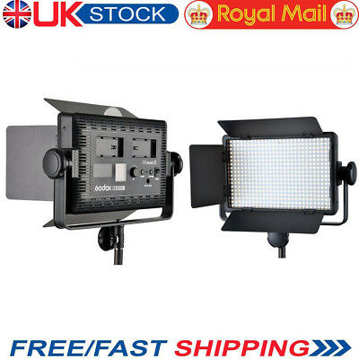 2X Godox 500 LED Studio Video Continuous Lighting For Camera Camcorder 5600K Kit