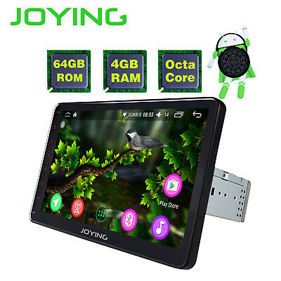 JOYING AFTERMARKET SINGLE 1-DIN Android 8.1 OCTA CORE AUTORADIO BT WIFI GPS 64GB