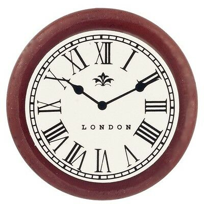 Round Wall Clock, Dolls House Miniatures,  1.12 Scale