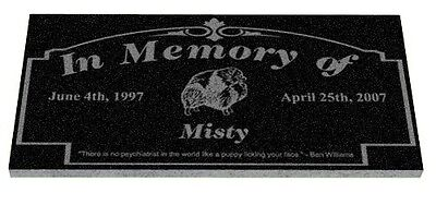 Granite Memorial marker pet grave headstone