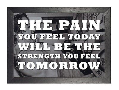 Motivation 107 Weight Lifting Quote Sport Poster Inspiration Hard Pain Photo
