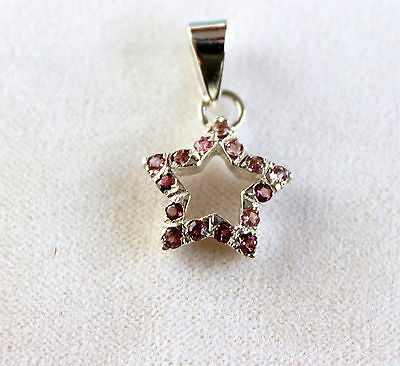 Tourmaline Gemstone Pendant in 925 Silver Precious Stone Jewelry Faceted Pink