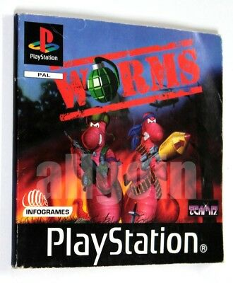 Sony PLAYSTATION PSX PSOne WORMS 1997 Team 17 SOLO MANUALE ONLY MANUAL
