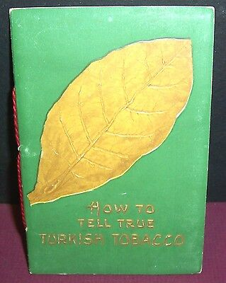 Nice vintage Saffa Tobacco ad booklet, How To Tell True Turkish Tobacco