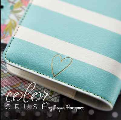 Webster's Pages Color Crush Planner Kit Teal Whtie Striped NIB