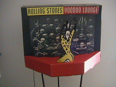"""Rolling Stones Promo Lighted 3D """"voodoo Lounge"""" Cardboard Mobile Rare"""
