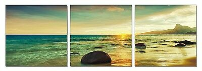 framed large modern contemporary canvas wall art print painting sunset beach