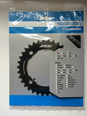 Shimano Zee Single Speed Chainring 34T 104mm BCD FC-M640