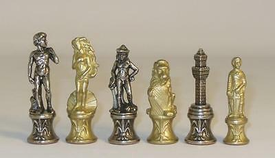 """Florence Metal Chess Pieces by Ital Fama 3 1/4"""" King"""