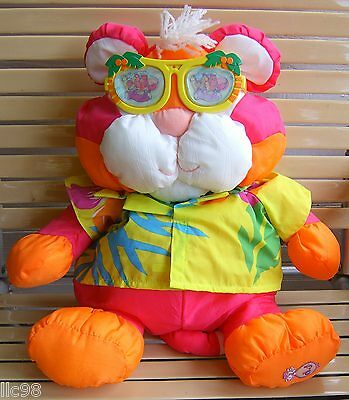 Pink Orange Tiger Puffalump-Fisher Price - 1987
