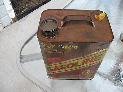 Vintage HUFFY 2 Gallon Metal Gas Can with Replacement Spout and Cap