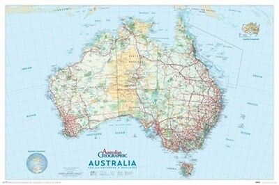 "Map Of Australia Poster ""australian Geographic"" Large ""licensed"" ""brand New"