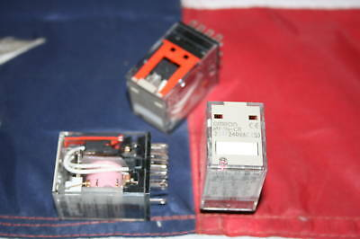 NEW Omron MY4N-CR 220/240VAC (S) Relays - Lot of 3
