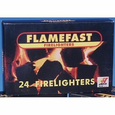 Flamefast Fire lighters 1 pack of 24 For Fires Log burners & Stoves
