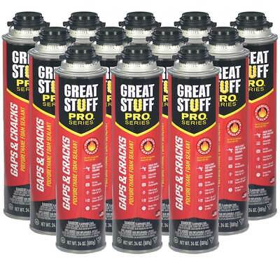 Dow Great Stuff PRO Gaps and Cracks, 24 oz Cans, Case of 12 Cans