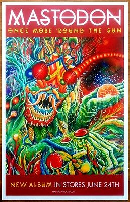 MASTODON Once More Round The Sun Ltd Ed New RARE Poster +FREE Metal/Rock Poster!