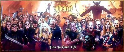 RONNIE JAMES DIO This Is Your Life Ltd Ed RARE HUGE New Poster Banner Print!