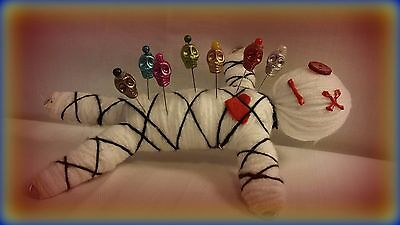 Mascot Voodoo Doll with 7 custom pins, color guide, instructions New Orleans