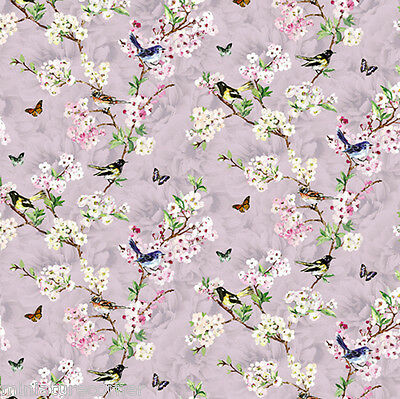 Dolls House Wallpaper 1/12th 1/24th scale Birds Lilac Quality Paper #329