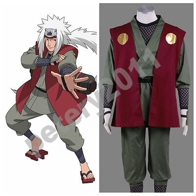 Naruto Anime Jiraiya Cosplay Costume Halloween