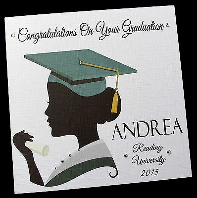 "*2 card sizes 6/"" or 8/"" sq* Personalised GCSE Well Done Congratulations Card"