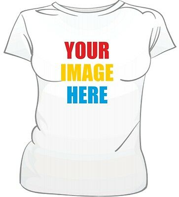 Custom Female T Shirt Photo or Picture Printed Personalized Tee